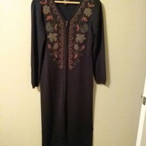 Carole Little Vintage Navy Blue Dress